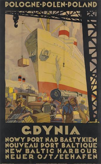STEFAN NORBLIN (1892-1952). GDYNIA. Circa 1930. 42x27 inches, 106x69 cm. Bibljoteka Polska, Bydgoszczy.