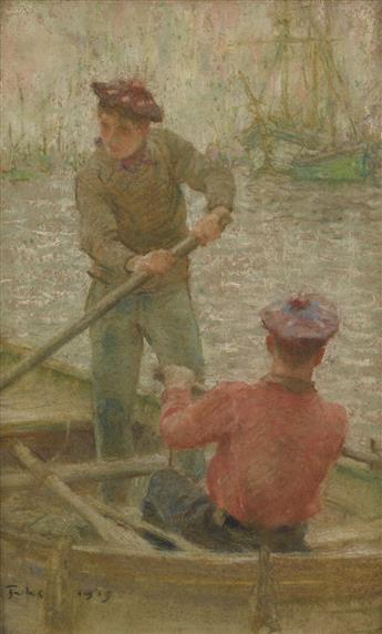 HENRY SCOTT TUKE (1858-1929)  Two Boys Rowing.