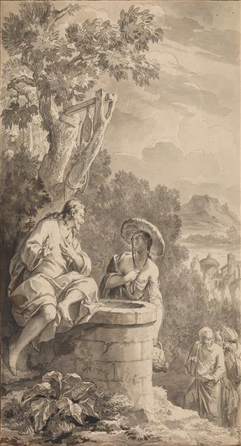 BERNARD PICART (Paris 1673-1733 Amsterdam) Jesus and the Samaritan Woman at the Well.