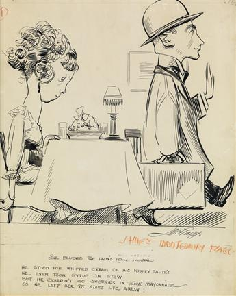 (CARTOON. FOOD.) JAMES MONTGOMERY FLAGG. She Believed the Ladies Home Journal.