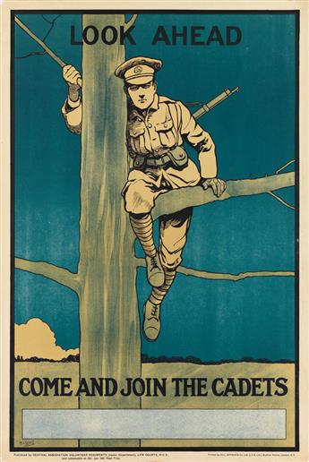 JOHN HASSALL (1868-1948). LOOK AHEAD / COME AND JOIN THE CADETS. 29x19 inches, 75x49 cm. Hill, Sifken & Co. Ltd., London.