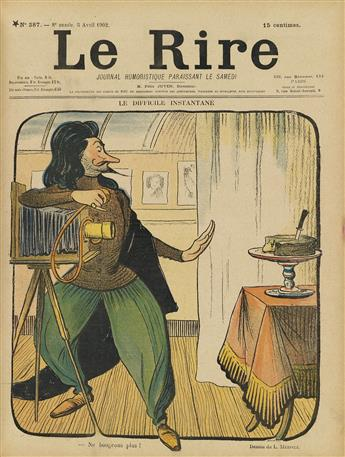 VARIOUS ARTISTS. LE RIRE. Three bound volumes. 1897-1902. 12x9 inches, 31x24 cm.