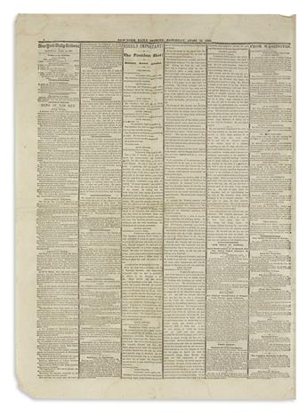 (LINCOLN, ABRAHAM.) Assassination issue of the New-York Tribune.