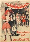 JULES-ALEXANDRE GRÜN (1868-1938). LE GRAND GUIGNOL. 1897. 49x35 inches, 125x90 cm. Bourgerie & Cie., Paris.