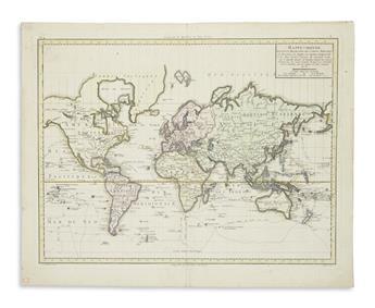 CHANLAIRE, P.G.; and MENTELLE, E. Mappe-Monde Suivant la Projection des Cartes Reduites.