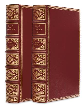 DORAT, CLAUDE-JOSEPH.  Set of 198 proofs of engravings for the same edition of Dorat's Fables Nouvelles, bound in 2 vols.