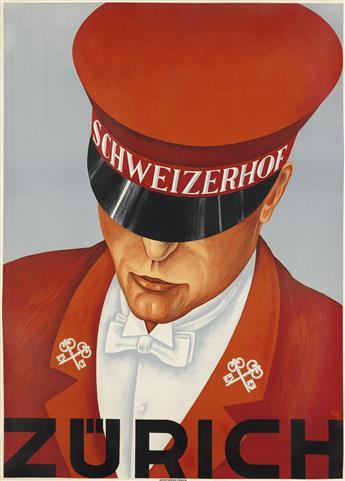 ALEX WALTER DIGGELMANN (1902-1987). SCHWEIZERHOF / ZURICH. 1930. 50x36 inches, 129x92 cm. Wolfsberg, Zurich.