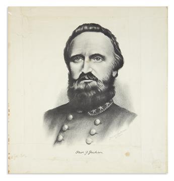(CIVIL WAR--CONFEDERATE.) Gonterman, J. Wilbur. Portrait of Stonewall Jackson.