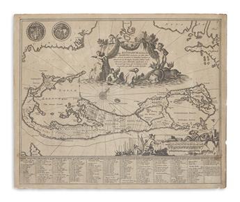 (BERMUDA.) Ogilby, John. Mappa Aestivarum Insularum alias Barmudas.