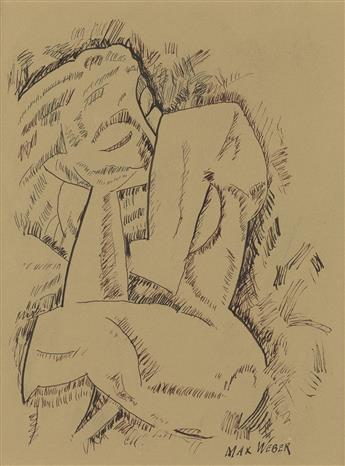 MAX WEBER Seated Nude.