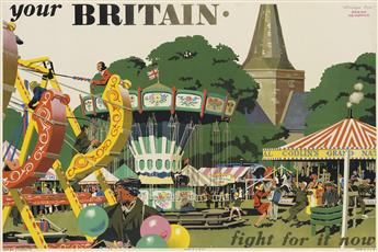 FRANK NEWBOULD (1887-1951). YOUR BRITAIN / FIGHT FOR IT NOW. 1942. 19x29 inches, 50x75 cm. Adams Bros. & Shardlow, Ltd.