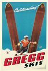 SASCHA MAURER (1897-1961). GREGG SKIS. 30x21 inches, 78x53 cm.