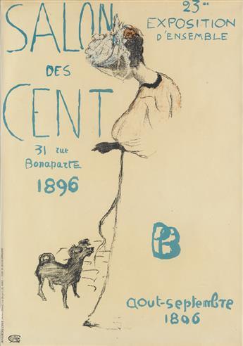 PIERRE BONNARD (1867-1947). SALON DES CENT. 1896. 24x17 inches, 63x44 cm. Chaix, Paris.