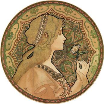 JANE ATCHÉ (1872-1937). [REVERIE.] Circa 1897. 16x16 inches, 42x42 cm.