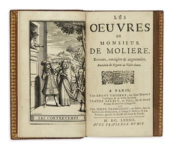 MOLIÈRE, JEAN-BAPTISTE POQUELIN DE. Les Oeuvres.  8 vols.  1682