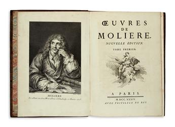 MOLIÈRE, JEAN-BAPTISTE POQUELIN DE. Oeuvres . . . Nouvelle Édition.  6 vols.  1734