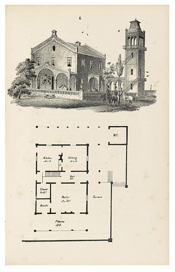 ARCHITECTURE.  ELLIOTT, CHARLES WYLLYS. Cottages and Cottage Life. Containing Plans for Country Houses,