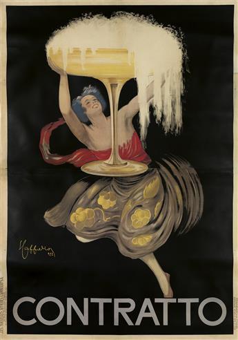 LEONETTO CAPPIELLO (1875-1942). CONTRATTO. 1922. 75x53 inches, 194x134 cm. Les Nouvelles Affiches Cappiello, Paris.