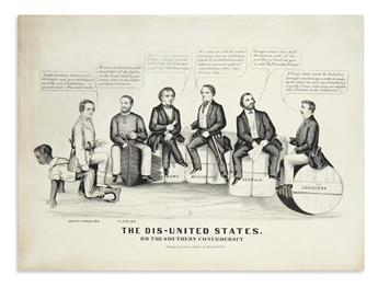 (CIVIL WAR--CONFEDERATE.) The Dis-United States, or the Southern Confederacy.