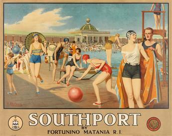 FORTUNINO MATANIA (1881-1963). SOUTHPORT. Circa 1935. 38x49 inches, 98x125 cm. S.C. Allen & Company, Ltd., London.