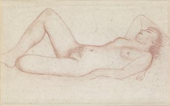 ARISTIDE MAILLOL Femme nue en repos.