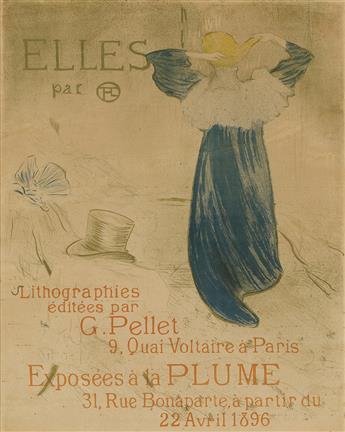 HENRI DE TOULOUSE-LAUTREC (1864-1901). ELLES. 1896. 23x18 inches, 60x47 cm.