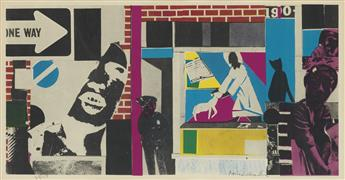 ROMARE BEARDEN (1911- 1988) Untitled (Street Scene).
