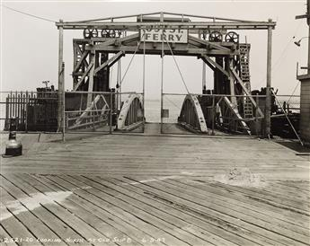 (NEW YORK--MARITIME CONSTRUCTION) Album entitled St. George Ferry Terminal, Staten Island with 110 professional photographs of the 69th