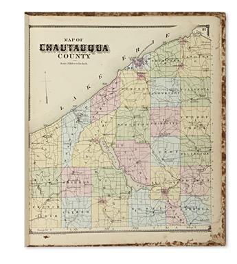(NEW YORK.) Stewart, William. New Topographical Atlas of Chautauqua County, New York.