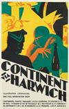TOM PURVIS (1888-1959). CONTINENT VIA HARWICH. 39x25 inches, 101x63 cm. The Dangerfield Printing Co., Ltd., London.