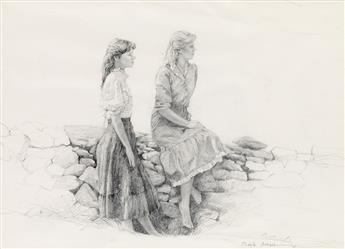 DOUG BREGA Women at a Stone Wall.