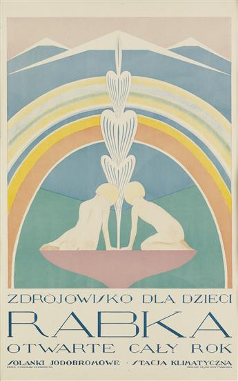 STANISLAW CZAJKOWSKI (1878-1954). RABKA / [CHILDRENS HEALTH RESORT.] 34x22 inches, 101x56 cm. Jan Cotty, Warsaw.