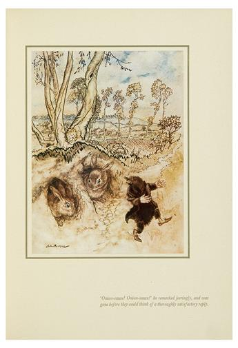 GRAHAME, KENNETH; ARTHUR RACKHAM. The Wind in the Willows.