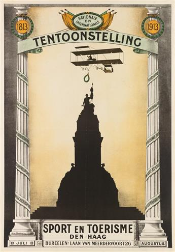 V. BENTHEM VAN DEN BERGH (DATES UNKNOWN). TENTOONSTELLING / SPORT EN TOERISME DEN HAAG. 1913. 40x25 inches, 101x63 cm.