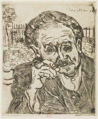 VINCENT VAN GOGH Homme à la Pipe: Portrait du Docteur Gachet.