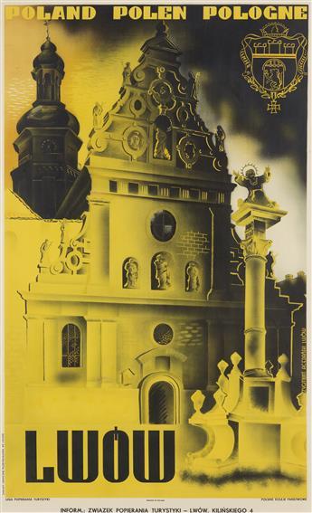 ZYGMUNT ACEDANSKI (1909-1991). LWOW / POLAND POLEN POLOGNE. 1935. 39x24 inches, 99x61 cm. Piller-Neumanna, Lwow.