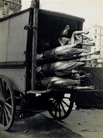 KERTÉSZ, ANDRÉ (1894-1985) Carousel horses, Paris.