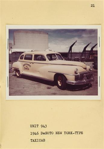 (MGM--VINTAGE CARS) A cool album with 47 photographs recording the varied inventory of automobiles available for prop use in Metro-Gold