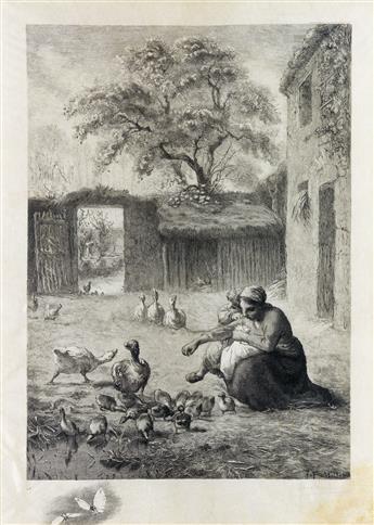 FÉLIX BRACQUEMOND (after Millet) Le Printemps