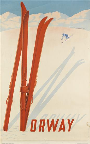 CLAUDE LEMEUNIER (1928-2010). NORWAY. 1957. 38x24 inches, 98x62 cm.
