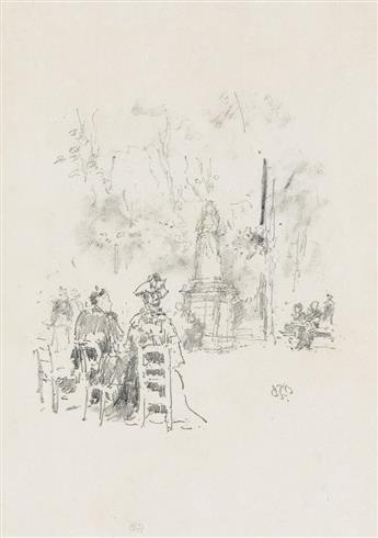 JAMES A. M. WHISTLER Conversation Under the Statue, Luxembourg Gardens.