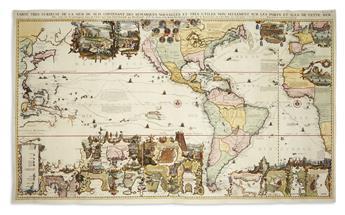 CHATELAIN, HENRI. Carte Tres Curieuse de la Mer du Sud,