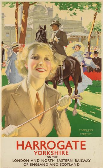 JOSEPH GREENUP (1891-1946). HARROGATE / YORKSHIRE. Circa 1935. 38x23 inches, 97x59 cm. Waterloo & Sons Ltd., London.