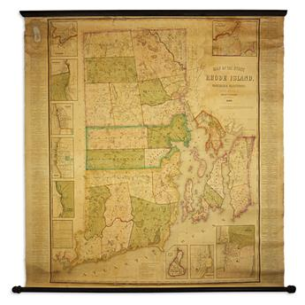 WALLING, HENRY FRANCIS. Map of the State of Rhode Island and Providence Plantations.