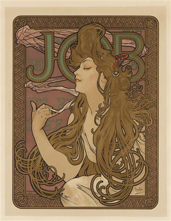 ALPHONSE MUCHA (1860-1939). JOB. 1896. 26x18 inches, 66x47 cm. F. Champenois, Paris.
