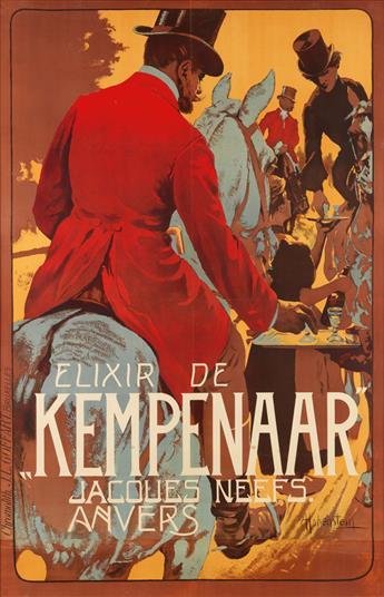 ADOLFO HOHENSTEIN (1854-1928). ELIXIR DE KEMPENAAR. Circa 1900. 55x36 inches, 141x92 cm. J.L. Goffart, Brussels.