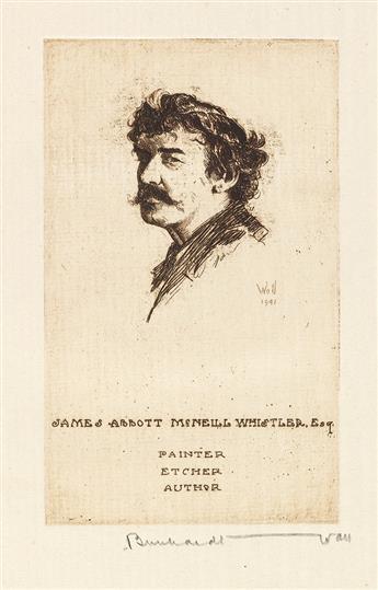 WALL, BERNHARDT. Following James McNeill Whistler, Etcher and Painter 1834-1903.