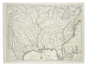 DE LISLE, GUILLAUME. Carte de la Louisiane et du Cours du Mississipi.