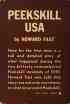 (ROBESON, PAUL.) Fast, Howard. Peekskill USA.