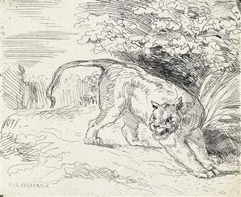 EUGÈNE DELACROIX Tigre en Arrêt.